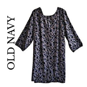 Old Navy 3/4 sleeve floral dress size xlarge
